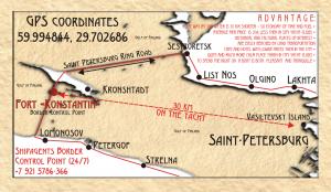 Общая схема расположения яхт-клуба Форт Константин